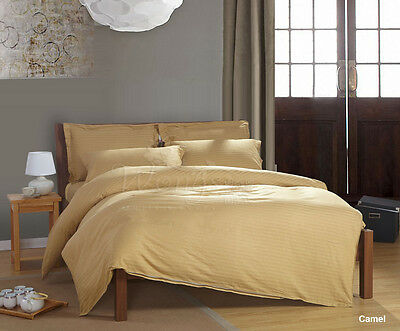 Striped New Satin Single/QS/DS/King Size Bed Linen Quilt/Duvet/Doona Cover Set