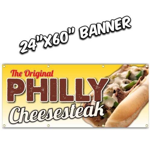PHILLY CHEESE STEAK BANNER  chicken bbq pork fries sausage hot dog wings