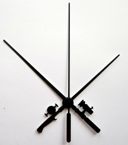 Jeu d'aiguilles canne à pêche pêcheur pour mécanisme d'horloge pendule à quartz