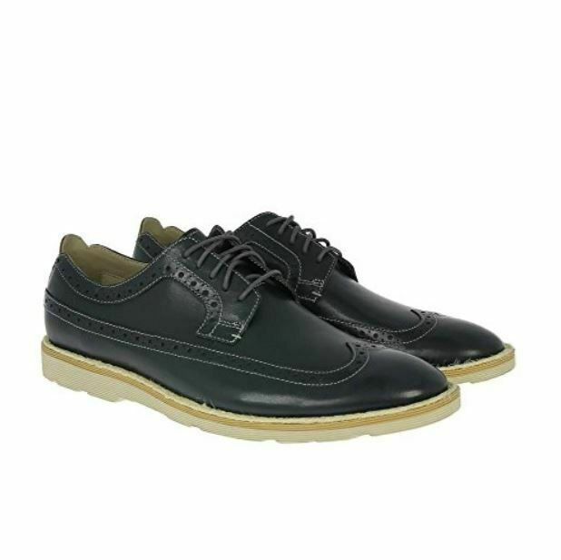 Clarks Gambeson Style Wing Tip Oxford Men's Leather shoes Size 8 Lace Up