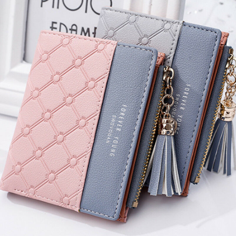 Fashion New Wallet Women Coin Bag Leather Lady Simple Bifold Small Handbag Purse 2