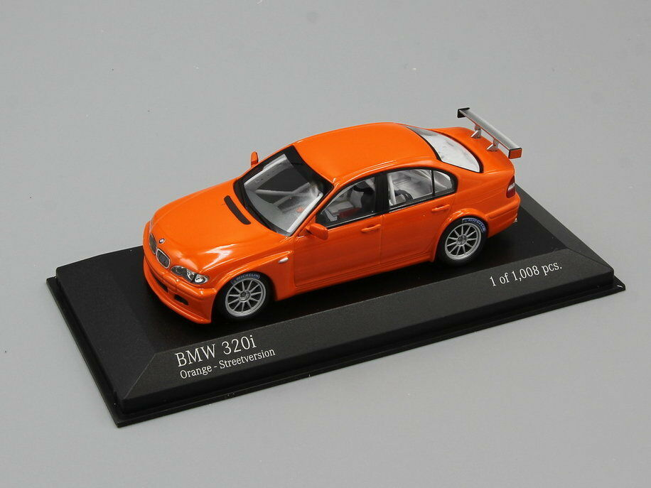 MINICHAMPS 1 43  BMW 320I - STREETVERSION  2005  orange