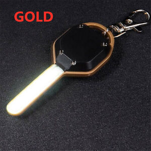 Mini COB LED Camping Flashlight Light Key Ring Keychain Torch Lamp H