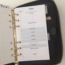 Dimensione del planner personale inserisci Filofax kikkik perforata giorno su 1 pagine (1 mesi)