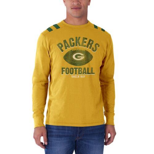 Green Bay Packers Football Logo Bruiser Premium Adult Mens Long Sleeve T-Shirt