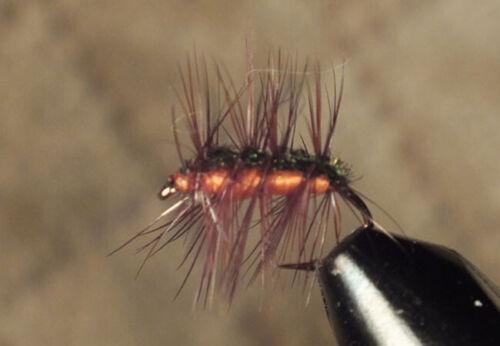 Crackleback Dry Fly Orange Size 16 Lot of 12 F716