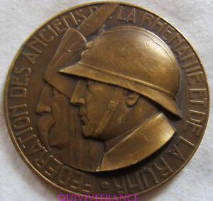MED6917-MEDAILLE-ANCIENS-RHENANIE-amp-RUHR-1914-1918-Attribuee-1937-par-DELANNOY