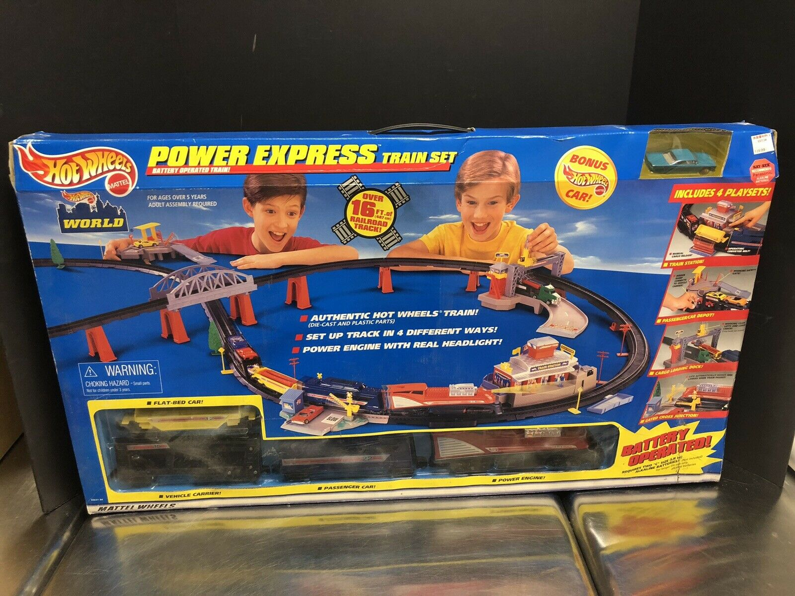 Hot Wheels 1999 Power Express Train Set Sealed Box Dela0122