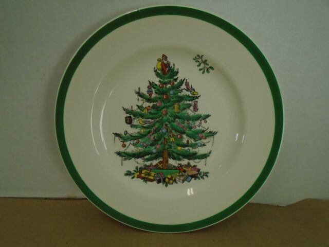 Spode Christmas Tree Green Trim S3324R Older Backstamp