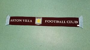 ASTON VILLA FOOTBALL CLUB SUPPORTERS SCARF . Free Post .