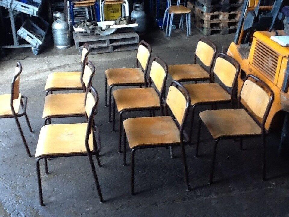 Stabelstole 10 stk - kraftig og solid