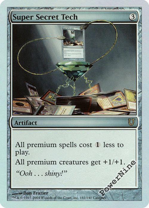 1 FOIL FOIL FOIL Super Secret Tech - Artifact Unhinged Mtg Magic Rare 1x x1 000adc