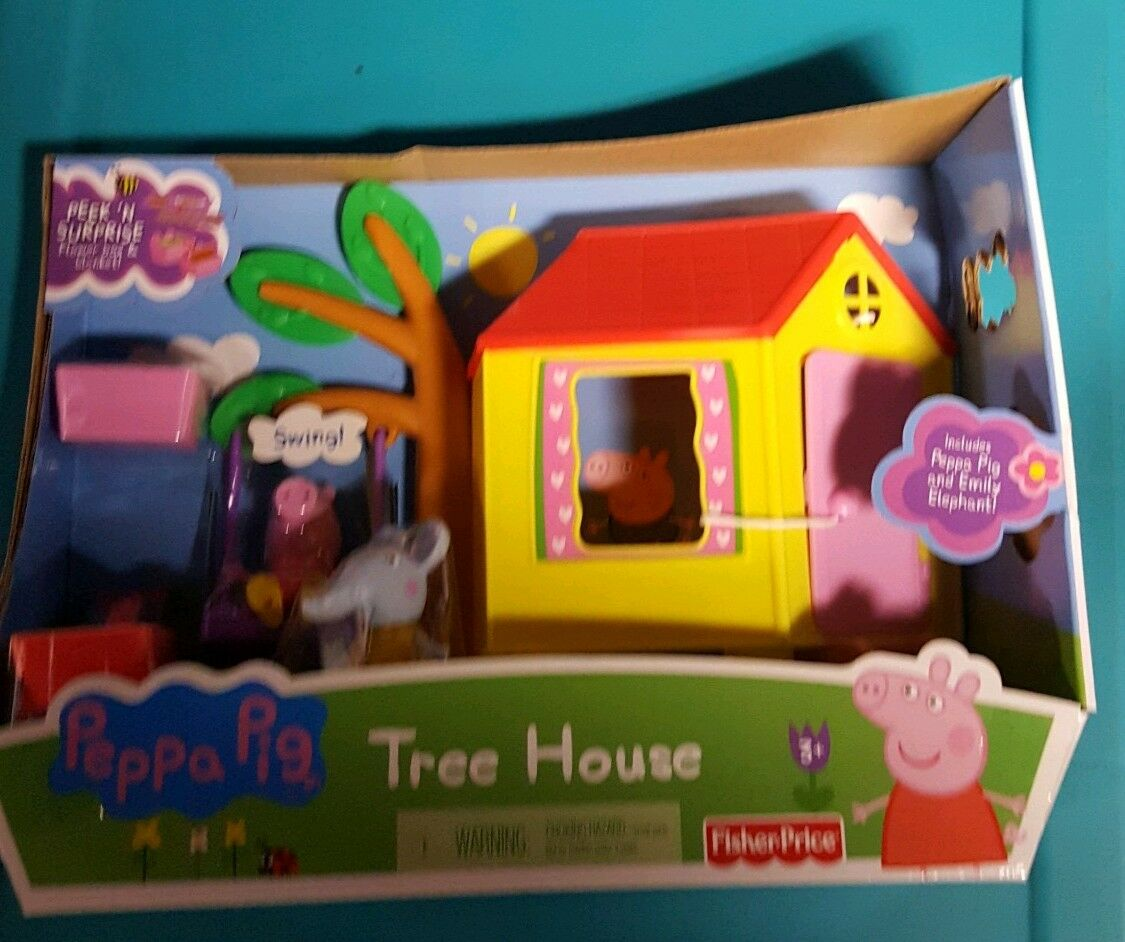 Peppa Peppa Peppa Pig Talking Tree House With Slide, Swing And Muddy Puddle d3eb72