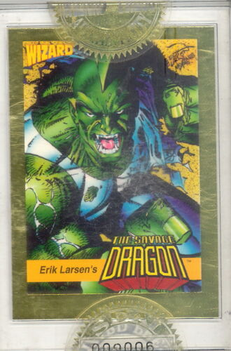 WIZARD MAGAZINE SERIES 1 1992 FACTORY SEALED GOLD PROMO CARD 3 SAVAGE DRAGON