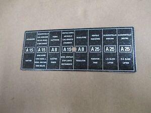 ferrari 246 fuse box cover label ebay ferrari mondial qv fuse box image is loading ferrari 246 fuse box cover label