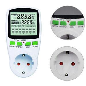 Leistungsmesser Wattmeter Stromzähler Energiemonitor Stromverbrauch Steckdose