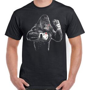 Boxing-Gorilla-Mens-Funny-Gym-T-Shirt-MMA-Muay-Thai-Kick-Boxing-Training-Top