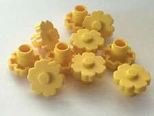 *NEW* LEGO 10 Large Rounded Flower 2x2 YELLOW with SOLID STUD