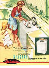 PUBLICITE ADVERTISING 054  1962   SCHOLTES  lave linge tambour  NIAGARA