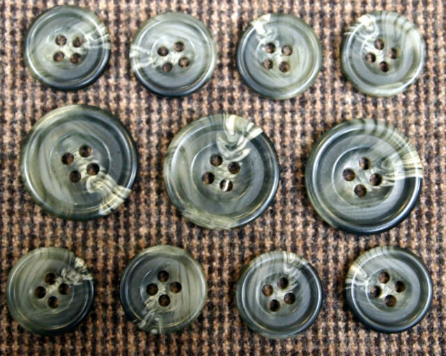 Horn Effect Buttons For Suit, Sport Coat, or Blazer - 1 Set