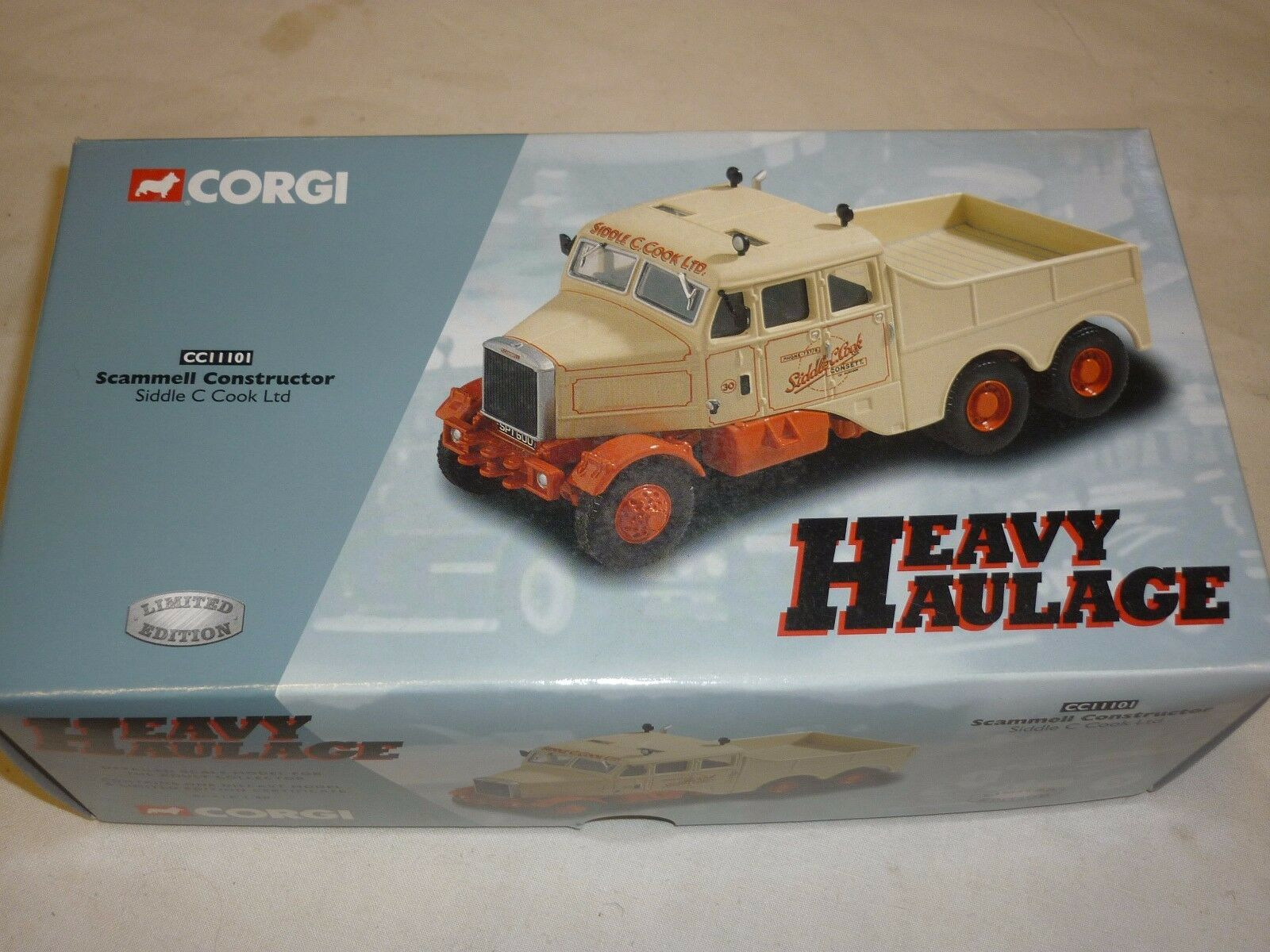 A Corgi  cc 11101 Scammell constructor, Siddle C Cook., Boxed