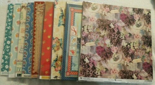 100 Sheets 12x12 Printed Cardstock /& Scrapbook Papers Mixed Lots /& Name Brands