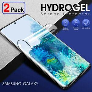 2 Pack Hydrogel Displayschutzfolie Samsung Galaxy s21 s20 FE s10 s9 s8 Plus Note 20