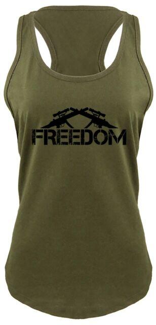 2nd Amendment AR-15 Women Muscle Tank Souvenir