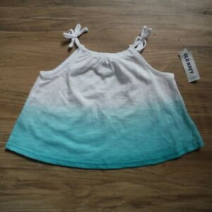 Girls-Blue-white-Ombre-Tank-top-shirt-12-18-months-Old-Navy-Sleeveless-NEW