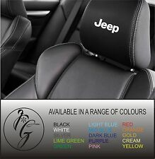 5 jeep car seat head rest decal sticker vinyl graphic logo badge free post