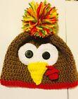 Set of 5 Adult Silly Turkey Beanie Style Pom-Pom Hats
