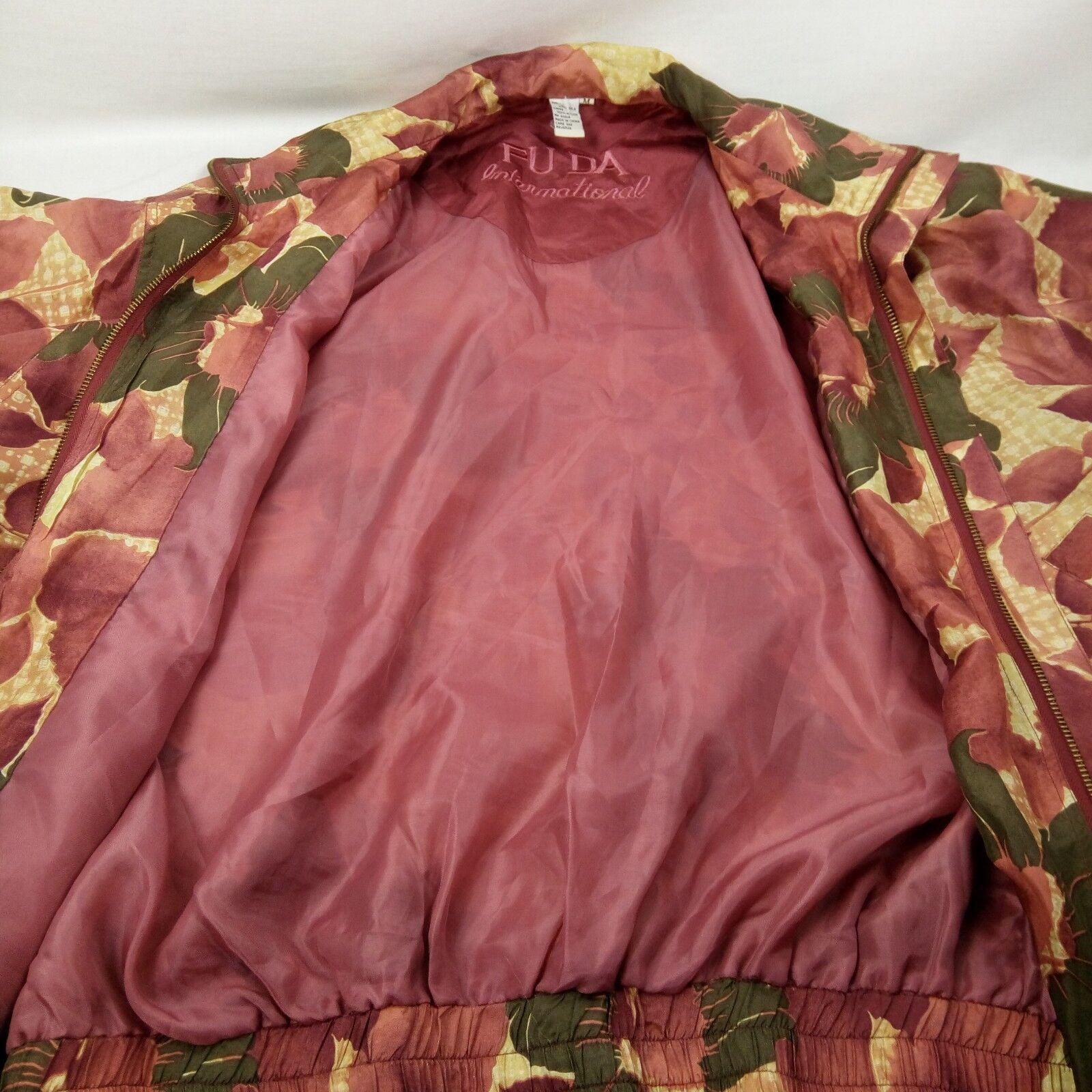 Fuda International Bomber Jacket Women Size M Pin… - image 5