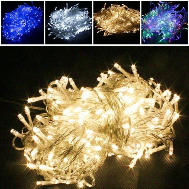 100-500 Solar Power LED Fairy String Lights Outdoor Garden Yard Wedding Party