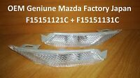 Set Genuine Mazda OEM Front Clear Side Marker Light Lenses MAZDA RX8 2003-2008