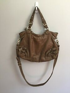 Junior-Drake-Brown-Studded-Leather-Large-Hobo-Crossbody-Bag-Purse