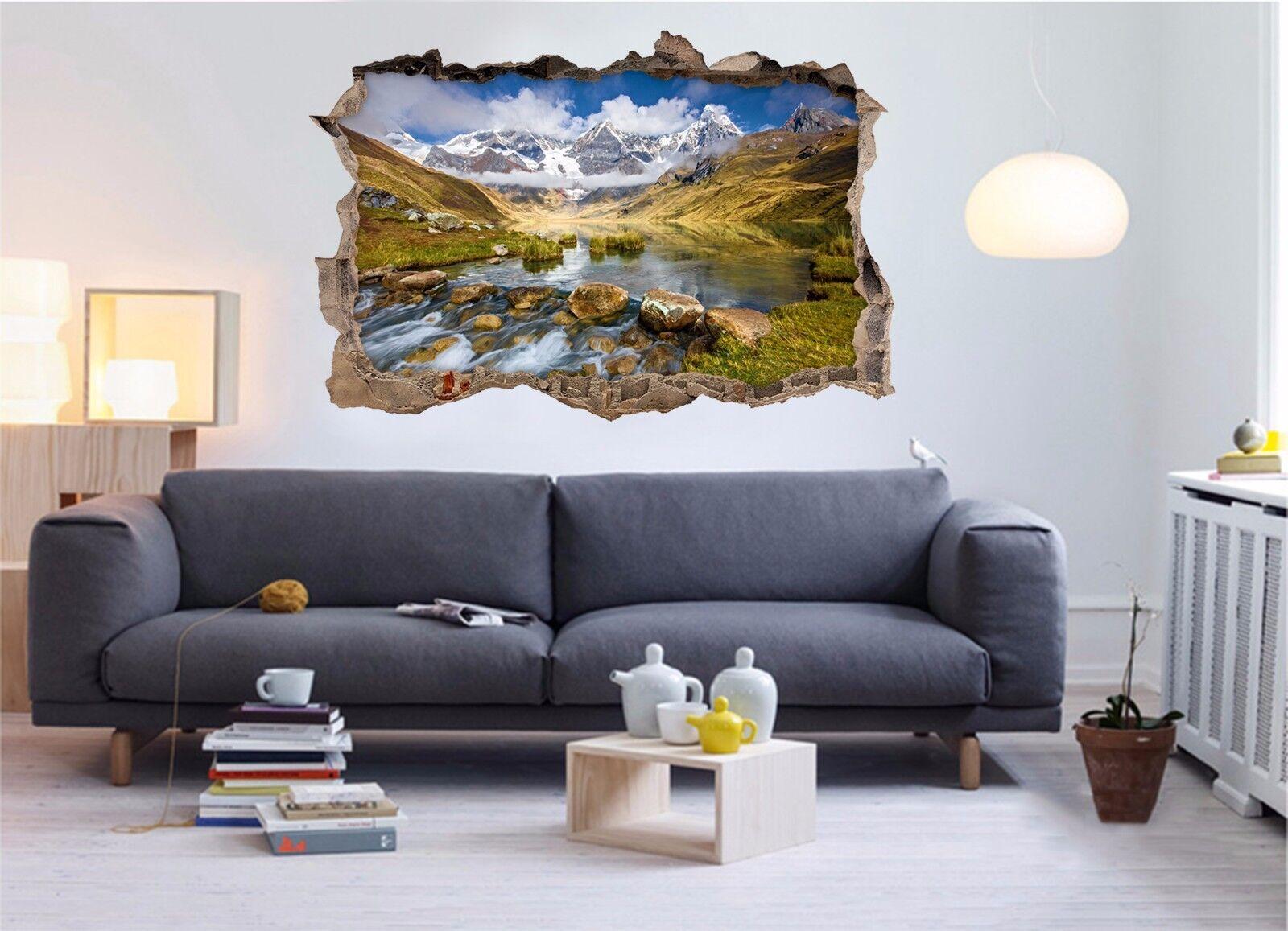 3D 3D 3D Valle Del Fiume 115 Parete Murales Adesivi Decal Sfondamento AJ WALLPAPER IT 744062