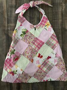 JANIE-amp-JACK-039-SUMMER-CLASSICS-039-Pink-Green-Patchwork-Plaid-Halter-Top-Shirt-3T