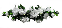 White Swag Roses Silk Wedding Flowers Party Centerpieces Arch Decorations