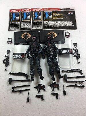 GI Joe Cobra 50th Anniversary Figure Lot TRU Cobra Shock Trooper x2 Army Builder
