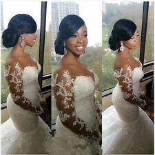 New Mermaid White/ivory Bridal Wedding Dress Custom Size 4-6-8-10-12-14-16-18+++
