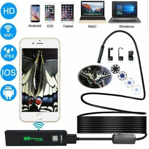 USB Endoscope Camera HD IP68 Tube Wireless Wifi Borescope Video