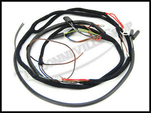 triumph t120tt t120c cloth wiring harness uk made 1963 67 pn tbs rh ebay com wiring harness components wiring harness connector