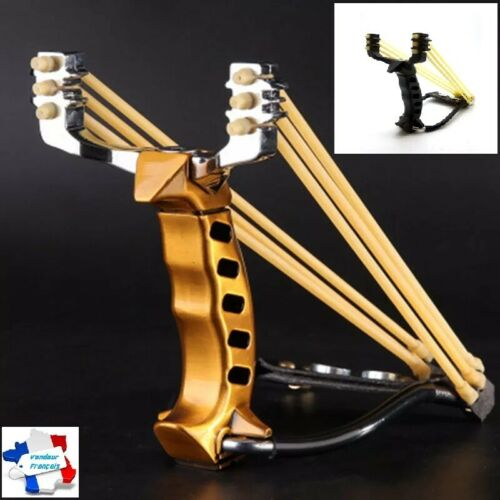 Sling Catapult with Arm Rest Slingshot Steel Stabilizer Hunting Fishing Gaming