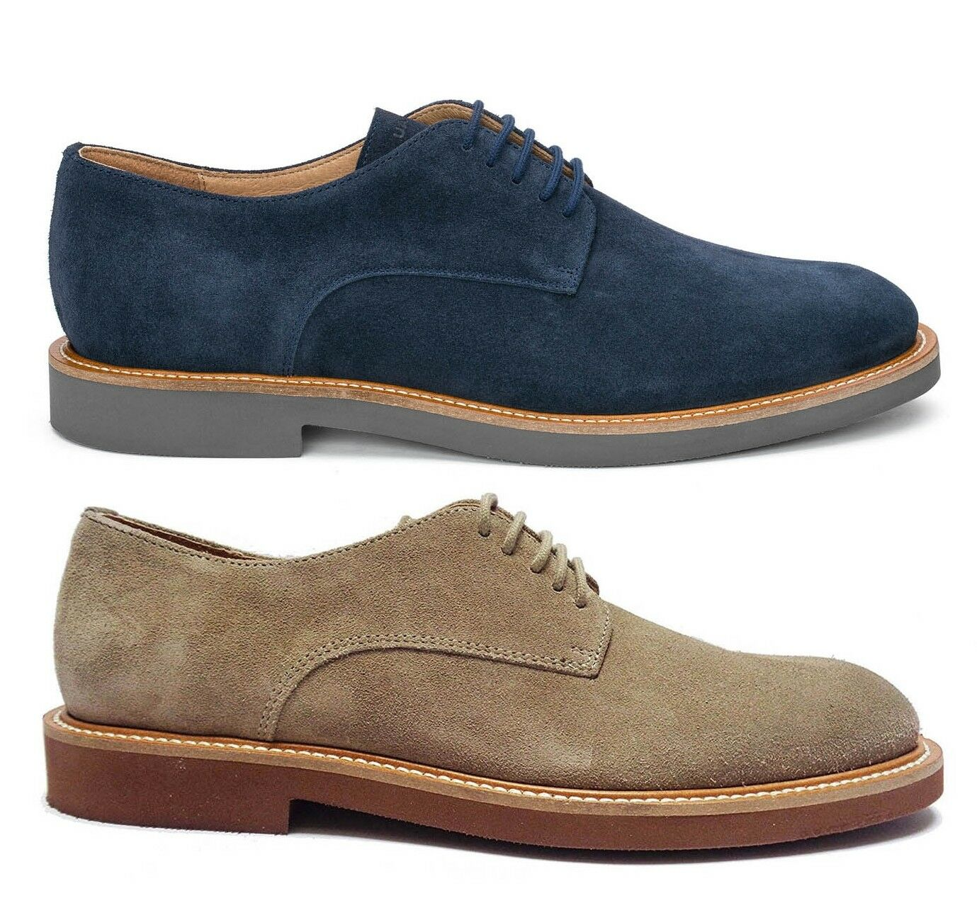 Frau 35A1 Blau Blau Blau Kork Schuhe Herren Stiefeletten