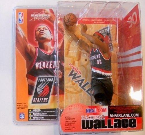 "MCFARLANE - NBA SERIES 3 – RASHEED WALLACE - PORTLAND BLAZERS - 6"" FIGURE"