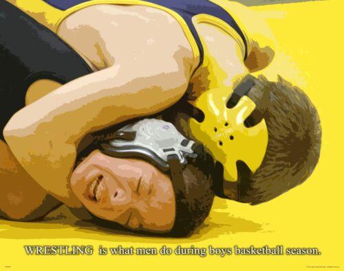 Wrestling Motivational Poster Art Dan Gable Cael Sanderson Youth Shoes MVP429