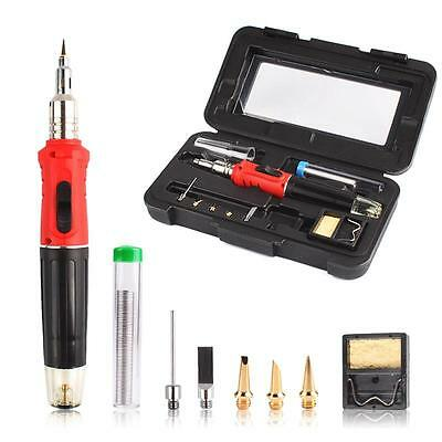 HS-1115K Gas Soldering Iron Cordless Welding Torch Tool Kit Useful HT-1934K DL