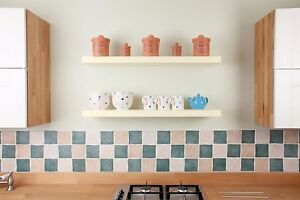 Details About White Painted Oak Floating Shelves Finest Quality Various Sizes Solid Wood
