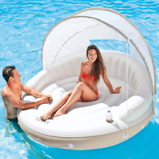 Outdoor Daybed With Canopy Pool Inflatable Chaise Lounge Island Sunbed Lounger