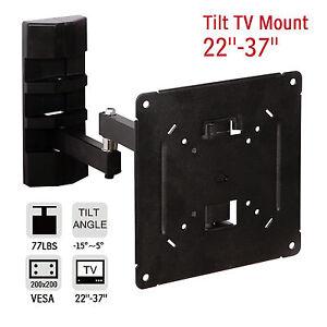 Full-Motion-Swivel-TV-Wall-Mount-Bracket-LCD-LED-Plasma-Flat-Tilt-22-27-32-37